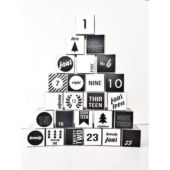 Buy: Milch & Honig's Nostalgic Modern Black-and-White Advent Calendar