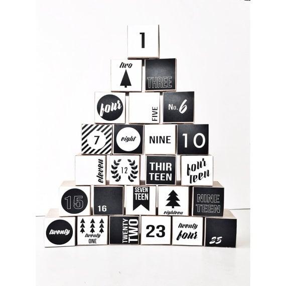 Buy: Milch & Honig's Nostalgic  Modern Black and White Advent Calendar