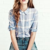 Work a classic angle in a peppy plaid and skinny jeans.  Shop the look