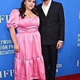 Beanie Feldstein and Ben Platt