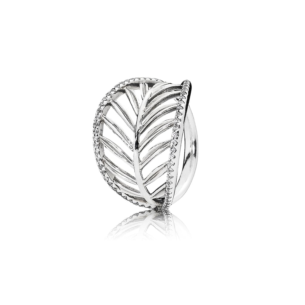 41107a6c7 Channelling the exotic look of the palm tree, PANDORA's new statement leaf  ring is framed