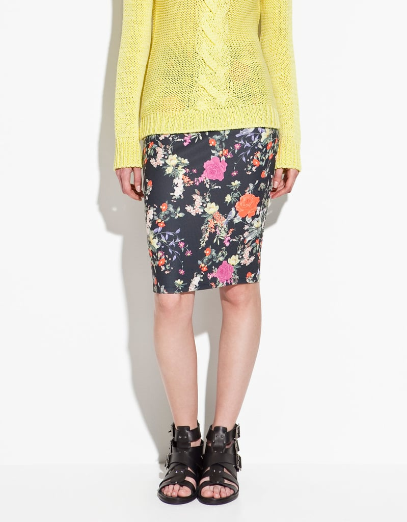 As far as classically cute floral prints go, this slim-fitted pencil skirt wins.  Zara Sheath Skirt ($30)