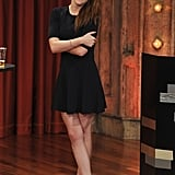 Kristen Stewart appeared on Late Night With Jimmy Fallon in NYC.