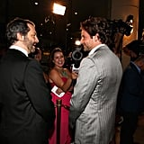 Judd Apatow and Bradley Cooper mingled at the Hollywood Film Awards gala in Los Angeles.
