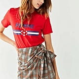 Urban Outfitters Plaid Wrap Miniskirt