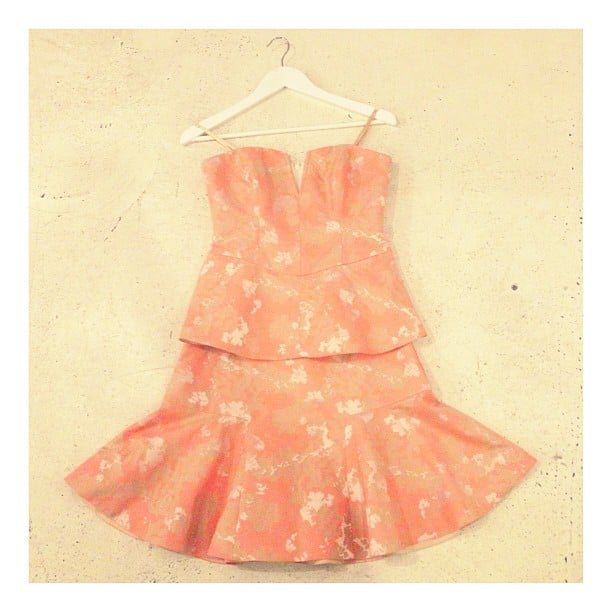 Cooper St has tapped into the trumpet-skirt trend with this peachy delight, available come Spring.