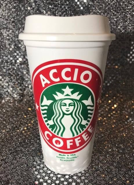 """Harry Potter Personalized Customized """"Accio Coffee"""" Starbucks Cup ($10)"""