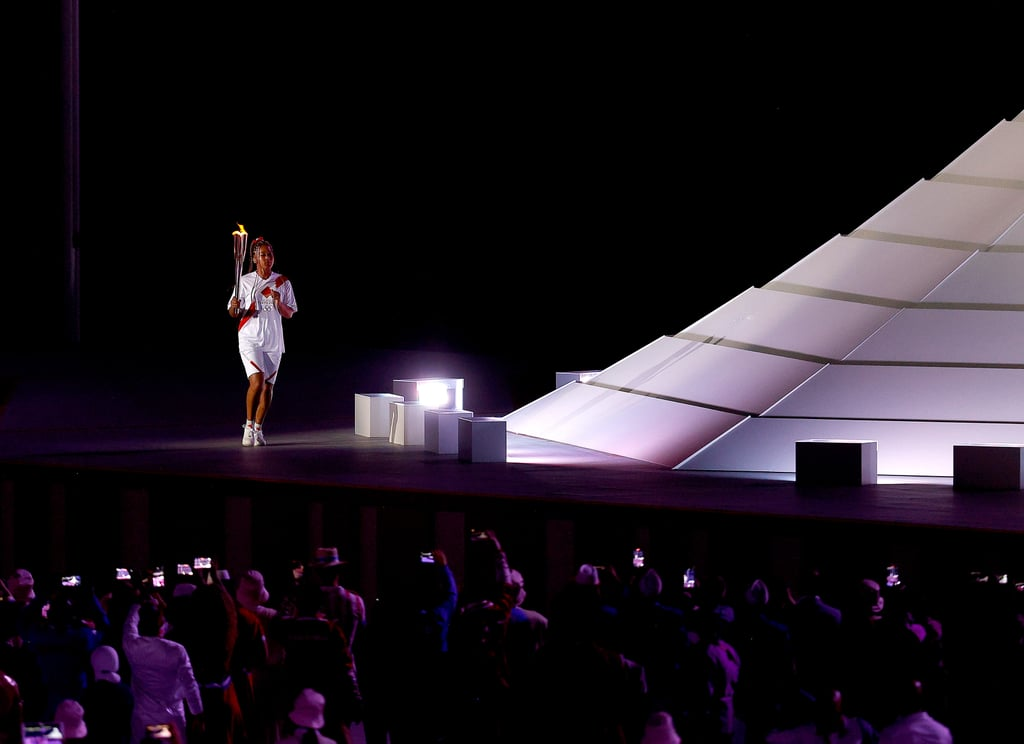 Naomi Osaka Carries Olympic Torch to the Olympic Cauldron