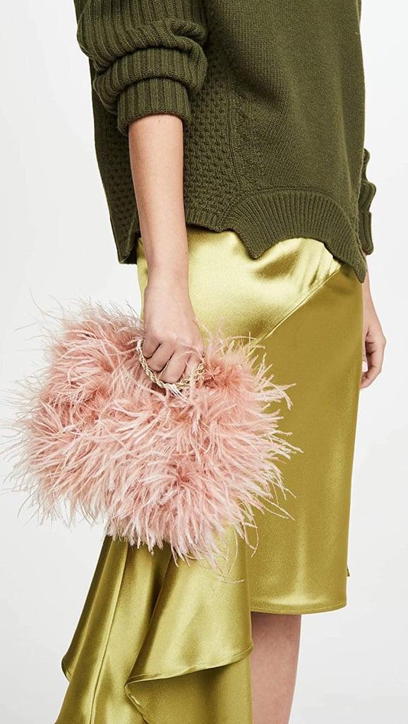 Loeffler Randall Zelda Feather Baguette Crossbody Bag
