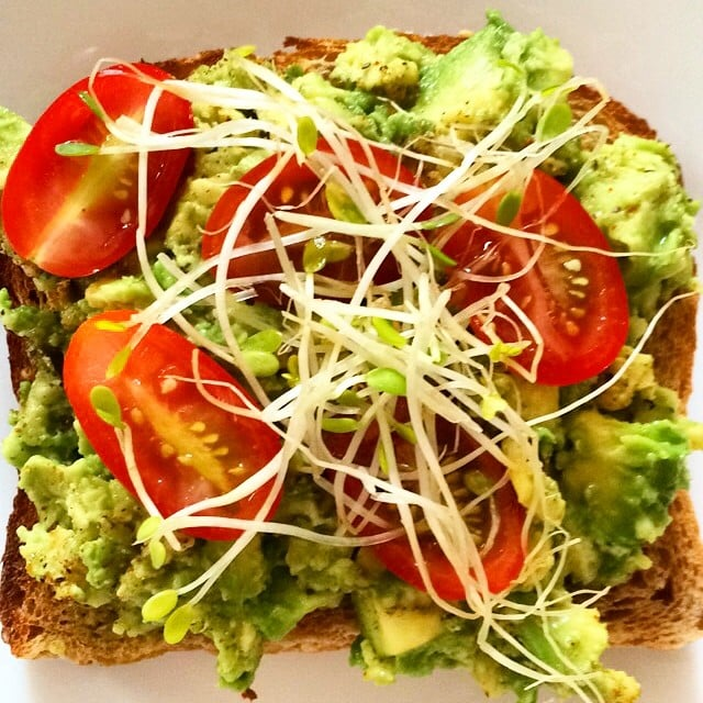A perfect snapshot of just another reason Summer is great — tomatoes paired with avocado! Source: Instagram user glowvibesdaily