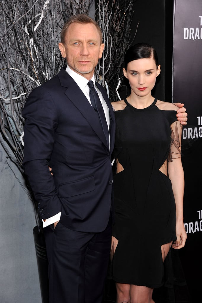 Daniel Craig and Rooney Mara arrived in NYC for the East Coast premiere of The Girl With the Dragon Tattoo.