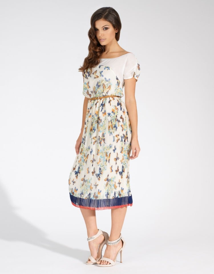 94bdb772659f Yumi Cream Butterfly Print Midi Dress (£50)