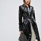 Hunter Super Shiny Pu Trench Coat