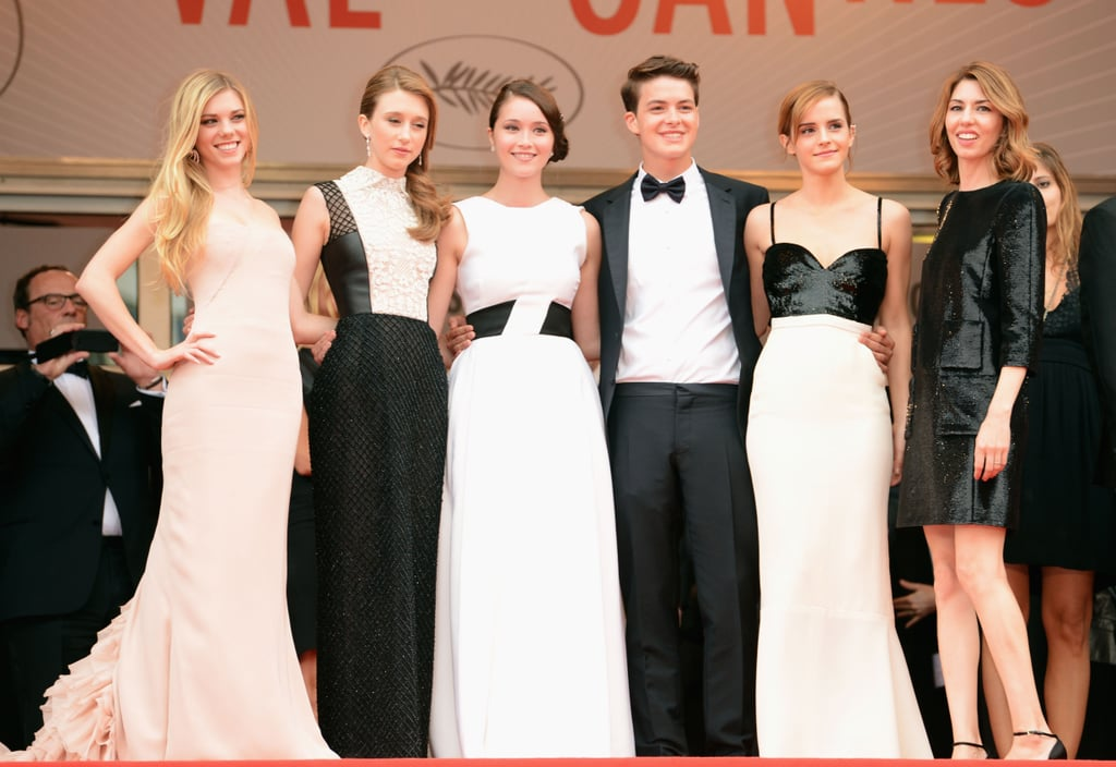 Emma Watson posed with The Bling Ring cast and director Sofia Coppola.