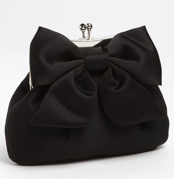 This Sondra Roberts bow clutch ($78) is a feminine choice, and the price tag is impressive, too.