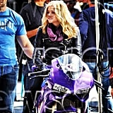 Chloe Grace Moretz suited up for Kick-Ass 2. Source: Instagram user cmoretz