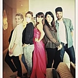 """Lea Michele posed with """"Team Lea"""" before the SAG Awards. Source: Twitter user msleamichele"""
