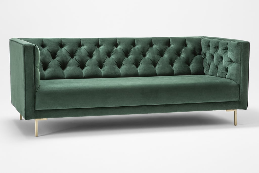 Sheridan Hartleigh Diamond Buttoned Sofa in Forest ($2,464)