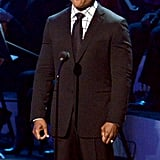 """LL Cool J attended the """"We Will Always Love You""""  Grammy salute to Whitney Houston in LA."""