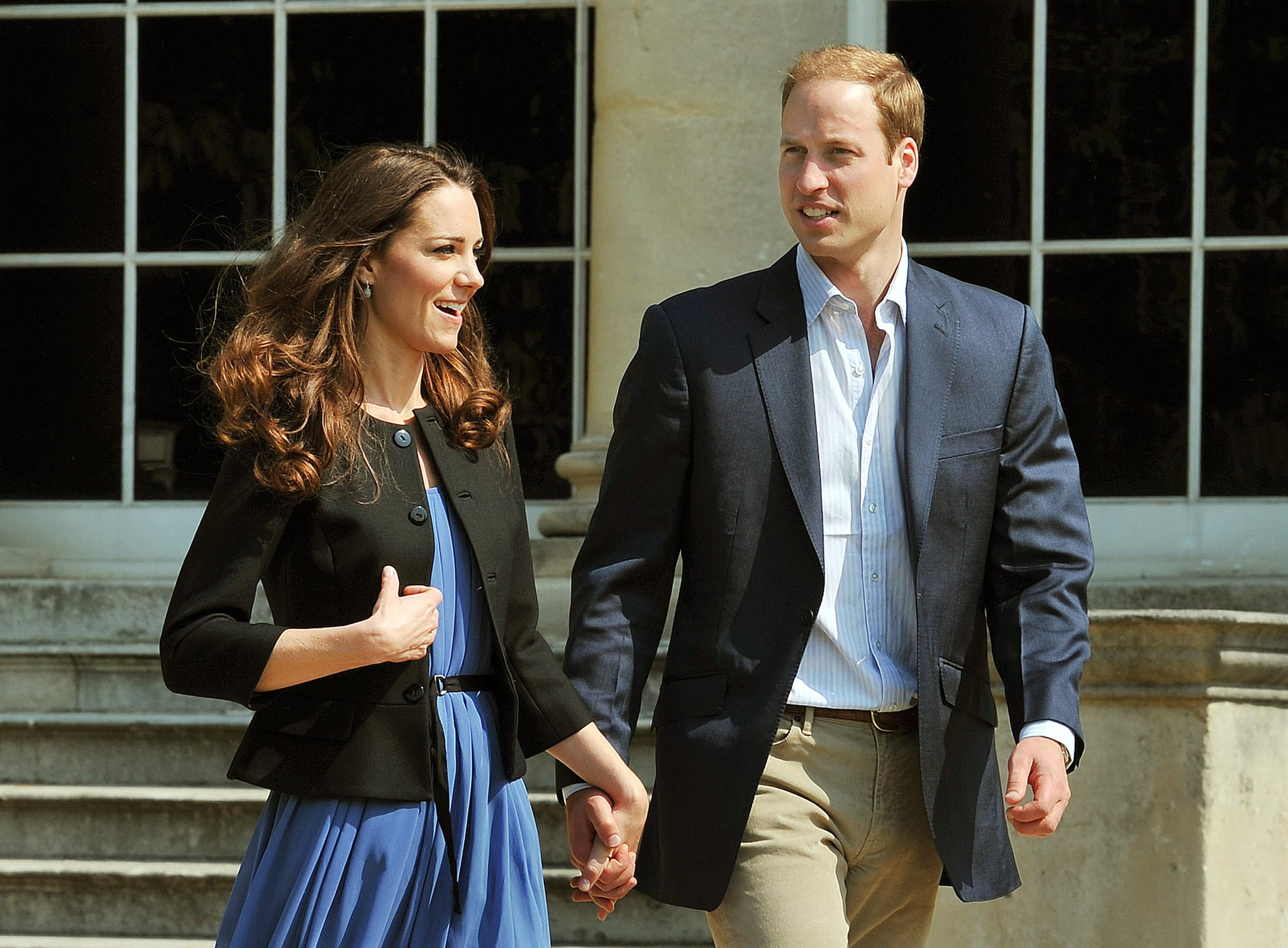 The pair held hands as they left Buckingham Palace the morning after their 2011 wedding.