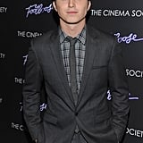 Kenny Wormald wore a plaid shirt to his Footloose premiere in NYC.