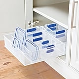 White Mesh Food Storage & Lid Organizer