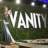 Jennifer Lawrence arrived at the Vanity Fair Oscar party on Sunday night.