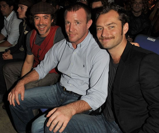Slide Picture of Robert Downey Jr, Jude Law, and Guy Ritchie at UFC Fight