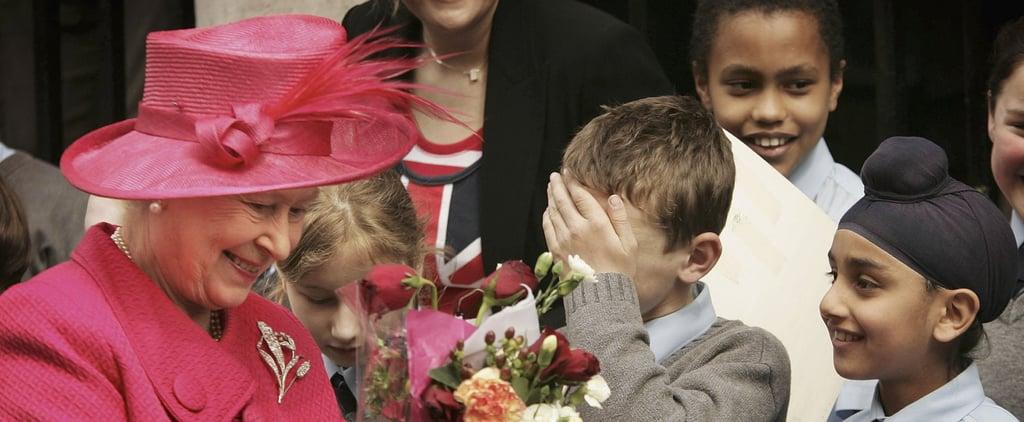 Queen Elizabeth II With Kids Pictures