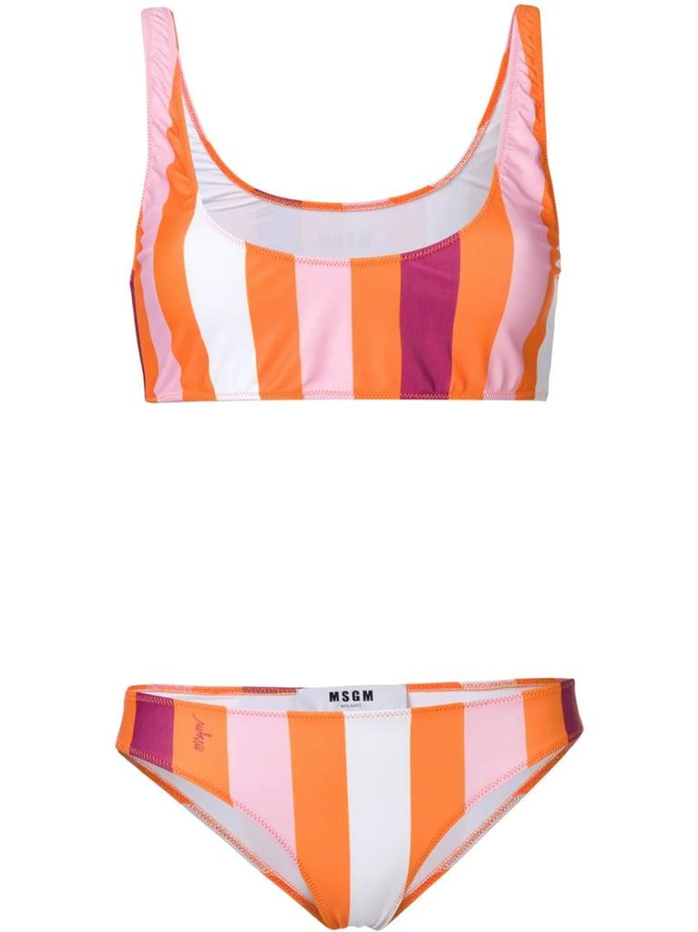 MSGM Striped Bikini Two Piece