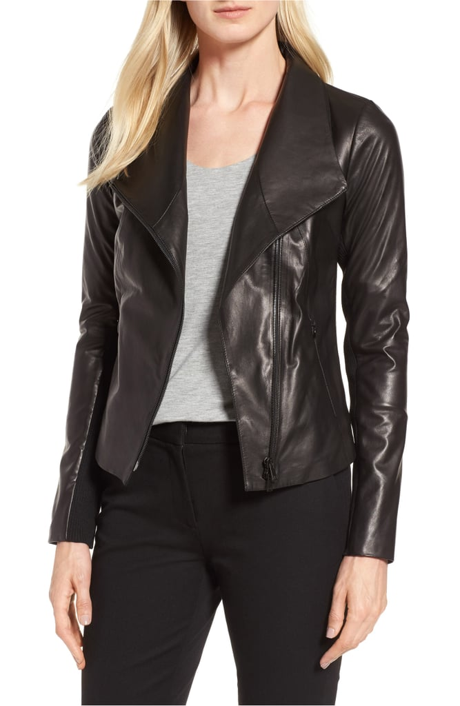 ddac3b896 Nordstrom Signature Stand Collar Leather Jacket   Nordstrom ...