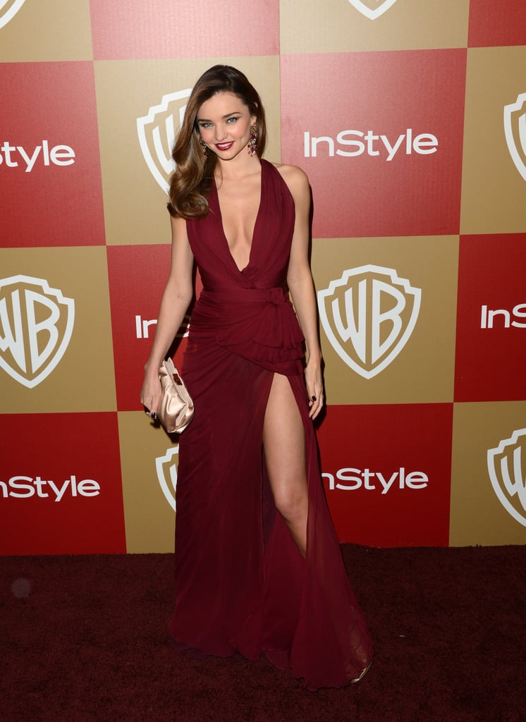 Miranda Kerr showed some leg.