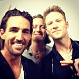 Jake Owen was all smiles in his CMAs selfie. Source: Instagram user barefootjake