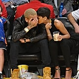 Rihanna and Chris Brown Lakers Game Christmas Day Pictures