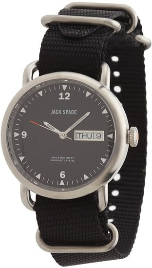 Jack Spade - Conway Black Face Steel Case with Webbed Strap (Black) - Jewelry