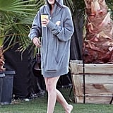 Tallulah Willis went barefoot in the VIP section on Saturday.