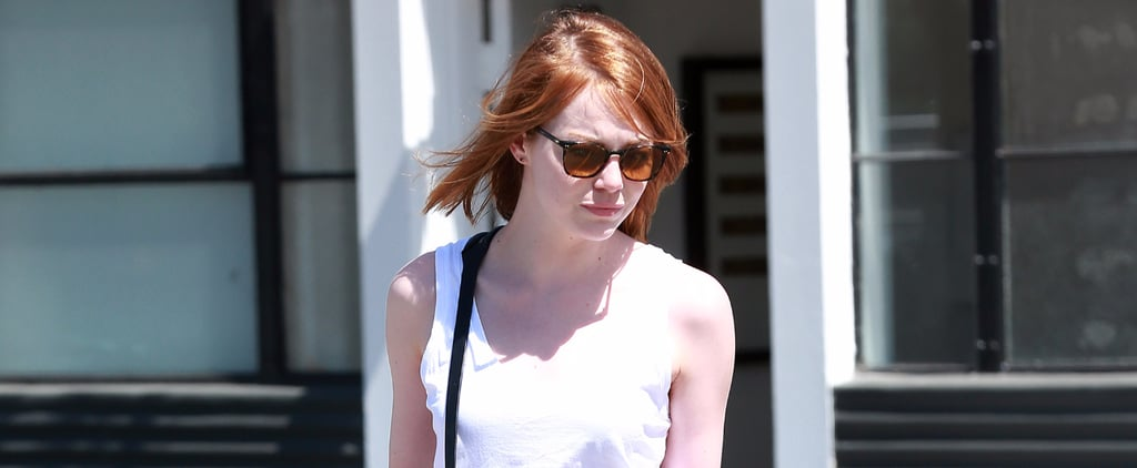 Emma Stone Carries a Bag With Andrew Garfield's Name — Standard or Suspicious?