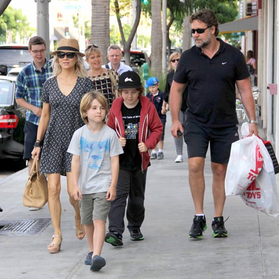 Russell Crowe and Danielle Spencer Shopping in LA With Sons
