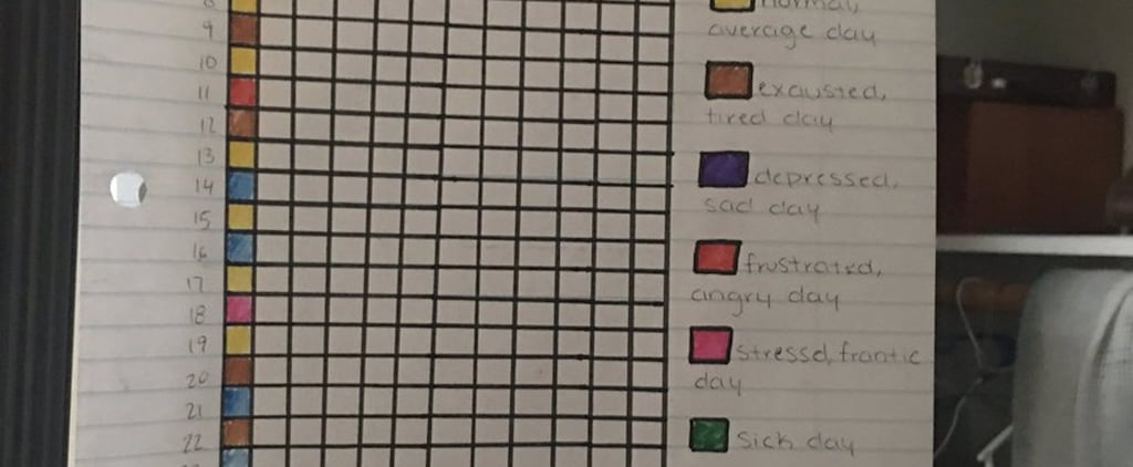 After Seeing This Woman's Ingenious Mental Health Tracker, You'll Want to Make 1 For Yourself