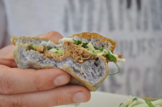 Kahlua Pork on a Taro Roll