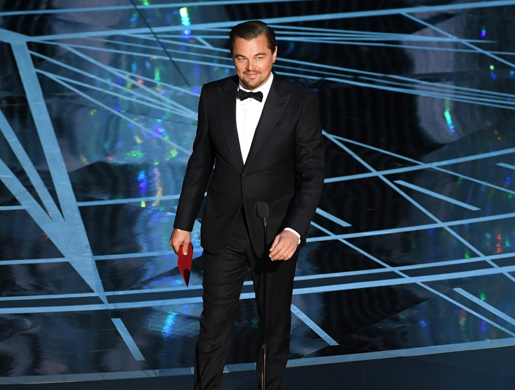 Leonardo DiCaprio won the coveted best actor award at the Oscars in 2016, and the actor was clearly feeling himself when he returned to the scene of the crime a year later. First of all, he was late; Leo skipped the red carpet and was MIA during most of the show, popping up just in time to present the best actress award to Emma Stone. He was basically that senior who comes back to campus after graduation — confident and unbothered, with a little bit of extra swagger. We'll likely get a glimpse of him posted up at the afterparty, vaping in the corner like a boss.      Related:                                                                                                           Leonardo DiCaprio Is Just a Regular Guy, and Here Is Solid Proof