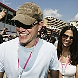 Matt and Luciana Damon went to Monte Carlo in May 2004.