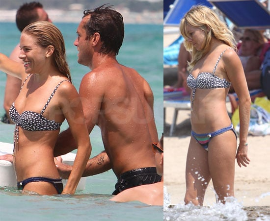 Sienna Miller Bikini Pictures With Shirtless Jude Law in Italy