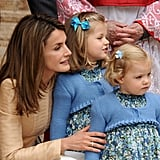 Princess Leonor and Infanta Sofía in 2008