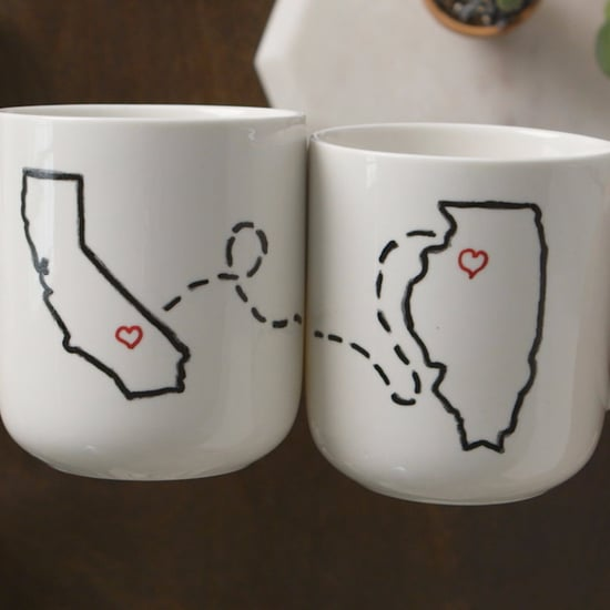 Adorable DIY Engagement Gift Mugs