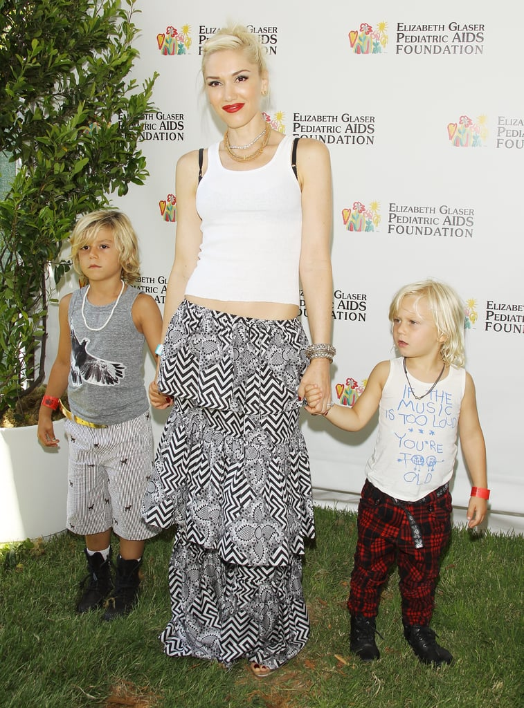 Gwen Stefani and her boys, Kingston and Zuma, attended the annual A Time For Heroes Celebrity Picnic together in LA.