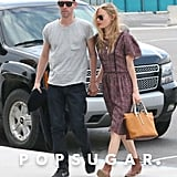 Newlyweds Kate Bosworth and Michael Polish walked hand in hand.