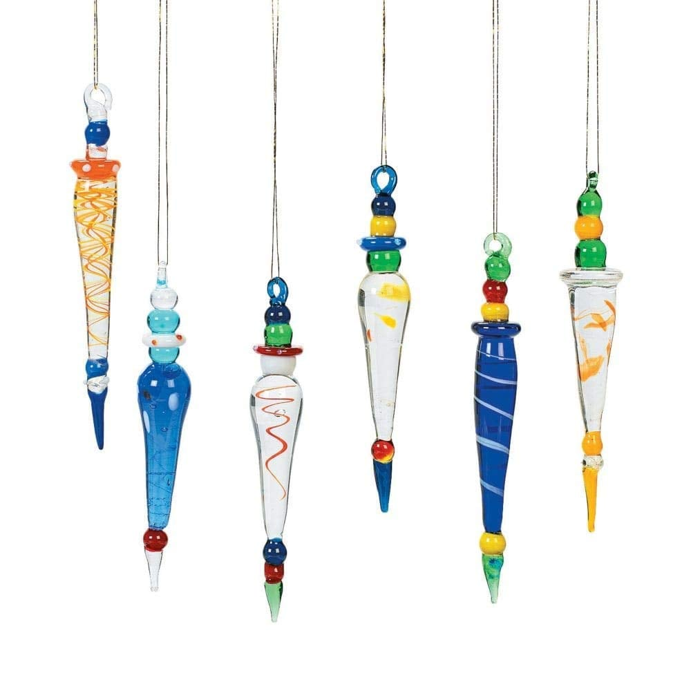 oriental trading company glass icicle multi color