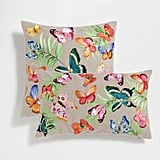 Embroidered Butterflies Cushion Cover ($50)