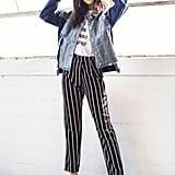 SheIn Pinstripe Pants